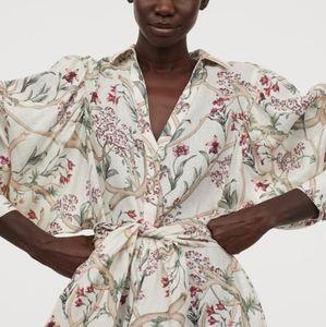 H&M x Johanna Ortiz Linen Shirt Dress